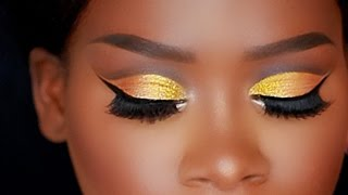 Juvia's Place Masquerade Palette | Gold Cut Crease for Hooded Eyes