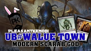 UB VALUE TOWN - Modern Scarab God - PleasantKenobi MTG Deck Tech and Gameplay