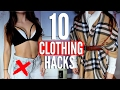 10 CLOTHING Hacks EVERY Girl MUST KNOW !!!