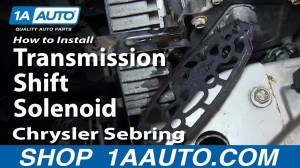 How To Install Replace Transmission Shift Solenoid 200106 Chrysler Sebring  YouTube