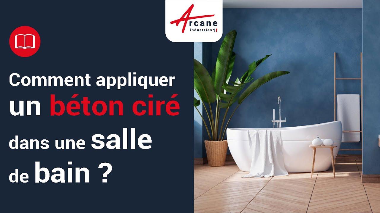 dco bton cir salle de bain sol mur douche design  YouTube