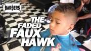kid's faded faux hawk