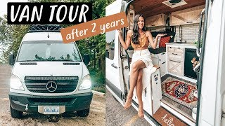 VAN TOUR after 2 years living in our TINY HOUSE on wheels | Eamon & Bec