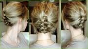 easy dutch braid updo short