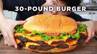 I Made A Giant 30-Pound Burger