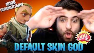 Default Skin God - Noob Commentary (Fortnite Battle Royale)