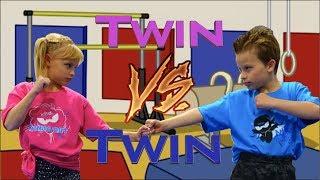 Sister vs Brother - Twin Gymnastics