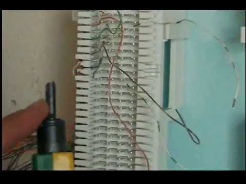 4 Wire Intercom Wiring Diagram How To Punch Down A 66 Block With A 25 Pair Cable Youtube