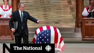 World leaders meet at George H.W. Bush's funeral