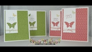 Stampin' Up Butterfly Punch - Here's To You Card