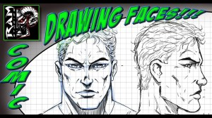 super hero drawing face grid zoy