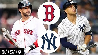 Boston Red Sox vs New York Yankees Highlights   March 15, 2019   Spring Training