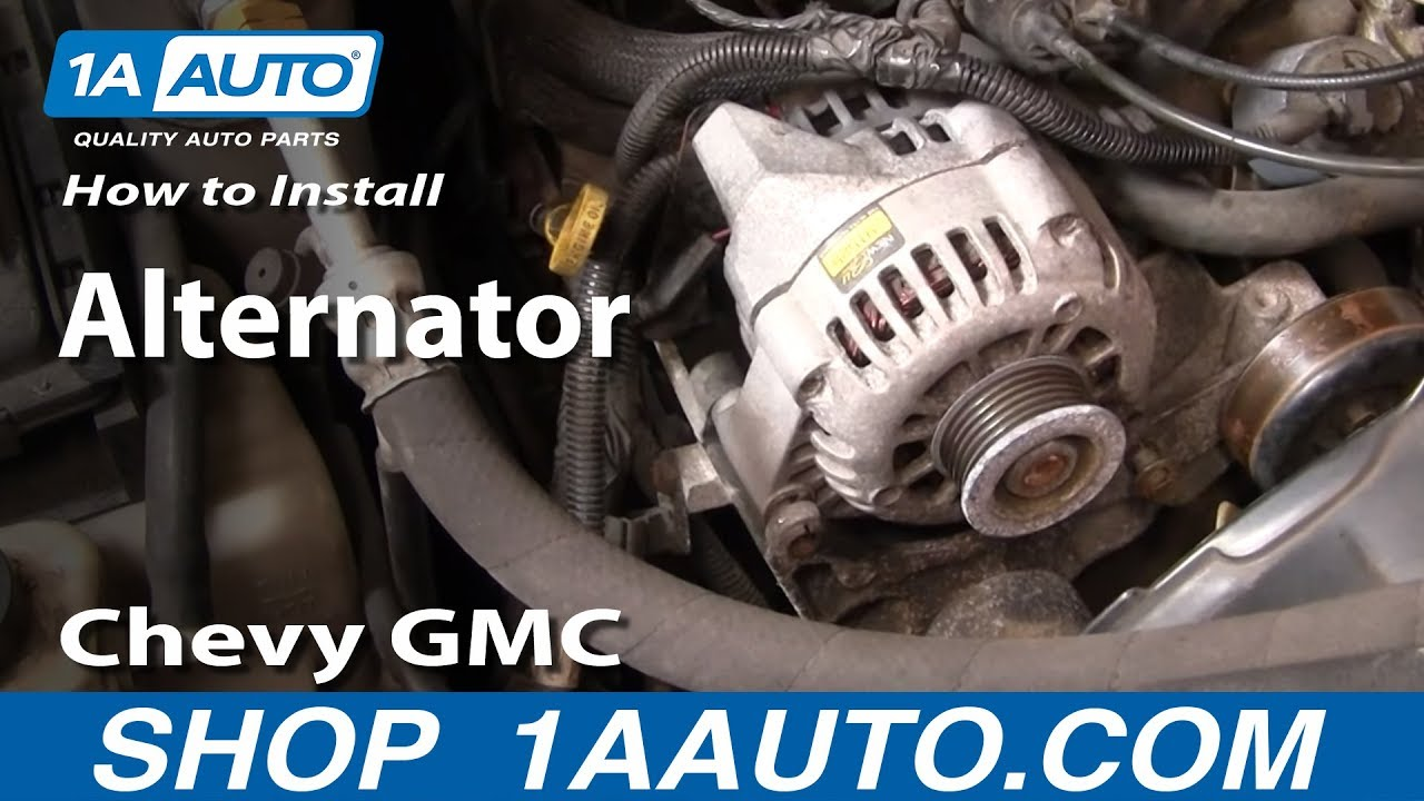 2000 S10 Abs Wiring Diagram How To Install Repalce Alternator Chevy Gmc S 10 S 15