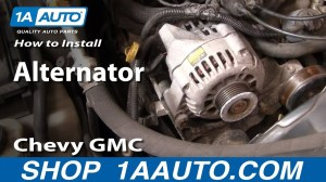 How To Install Repalce Alternator Chevy GMC S10 S15