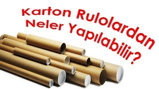 Karton Rulolardan Neler Yapılır | What Can I do With Cardboard Roll?