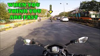 WHEN YOU THINK YOU ARE FAST THIS HAPPENS   KTM RC 390