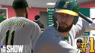 SHELFY 1ST AT BAT HOMER! MLB The Show 19 Road To The Show #1