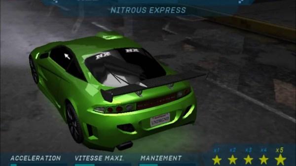 NFS underground 1 Cars - YouTube