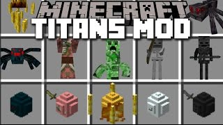 Minecraft MOB TITANS MOD / MAKE ANY MOB GIANT AND FIGHT THE TITANS!! Minecraft