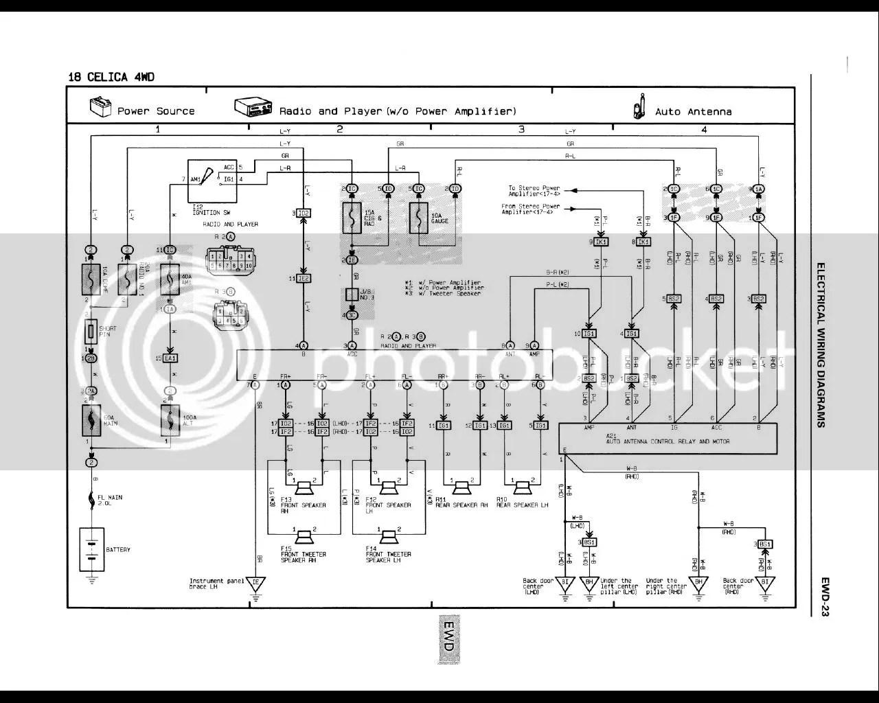 subwoofer wiring diagram for 6 subs belling electric cooker premium 8 speaker system 6g celicas forums