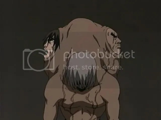 Hunchback of Notre Dame... argh!! cliche + lame - sorrie!! but as u can see... he's a dog of Orochimaru!!