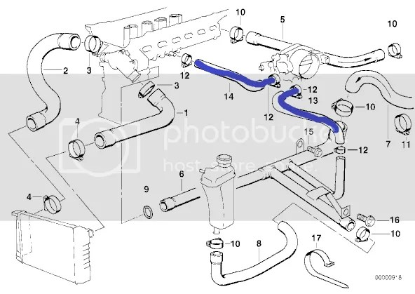 M52 throttle body coolant bypass