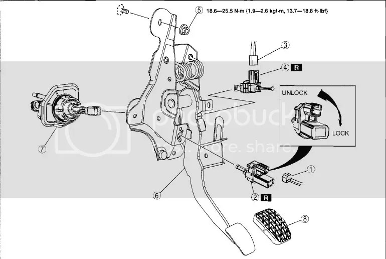 Ford focus clutch pedal assembly diagram