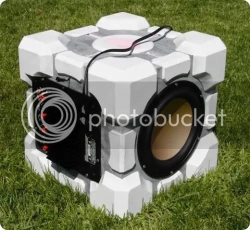 companion cube subwoofer