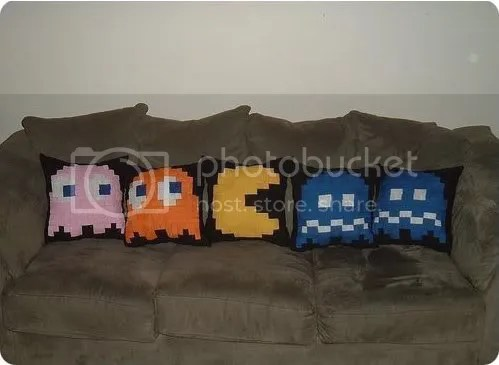 pac-man pillows