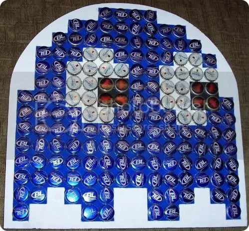 pac-man bottle cap art