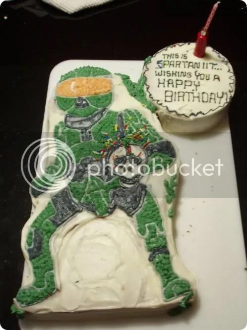 master chief birthday cake