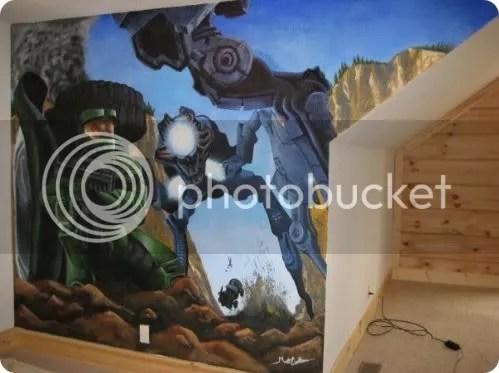 halo mural