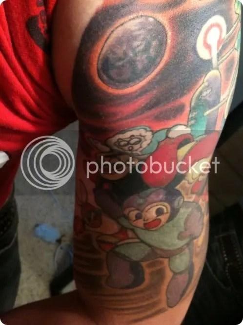 mega man stone tattoo