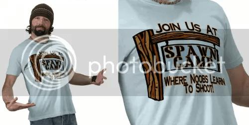 spawn camp t-shirt