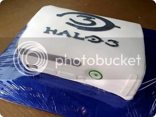 halo xbox 360 cake