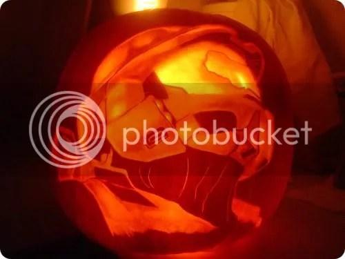 master chief pumpkin