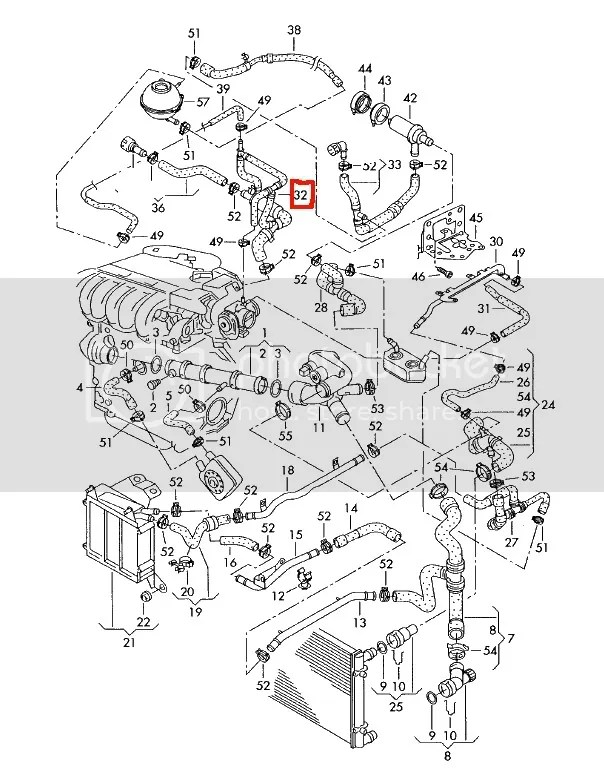 Jetta Cooling System Diagram Additionally Vw 1 8 Turbo