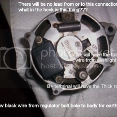 Bosch Internal Regulator Alternator Wiring Diagram Animal Cell And Labels Generator To Conversion Fbekholden