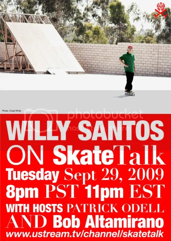 Willy Santos on Skate Talk Live!