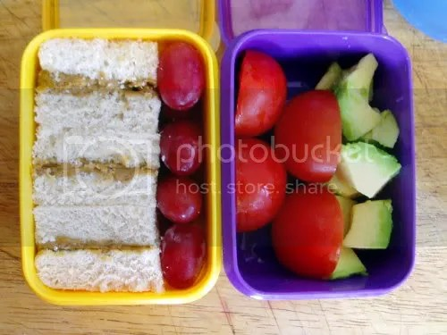 fruit and sammiches