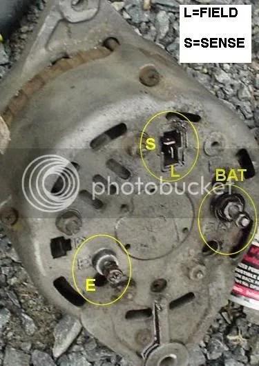 280zx Alternator Wiring Diagram 94 Amp Ac Delco Alternator Swap Details Ignition And