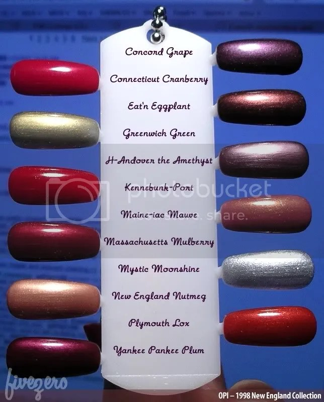 OPI New England Collection, swatched