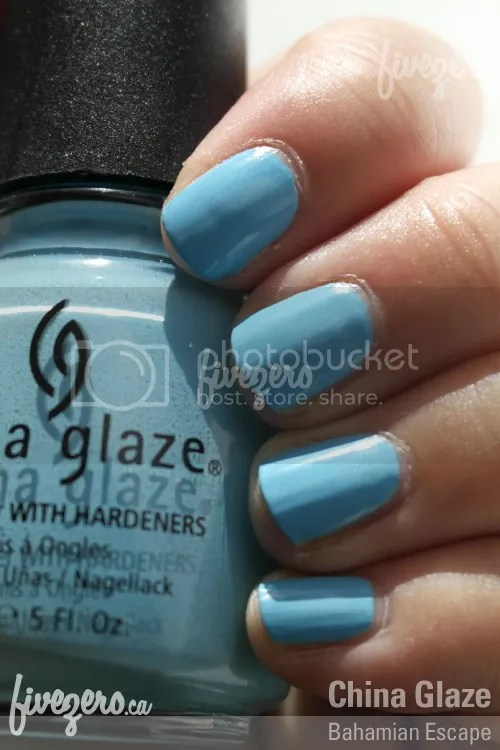 China Glaze Nail Lacquer in Bahamian Escape, swatch