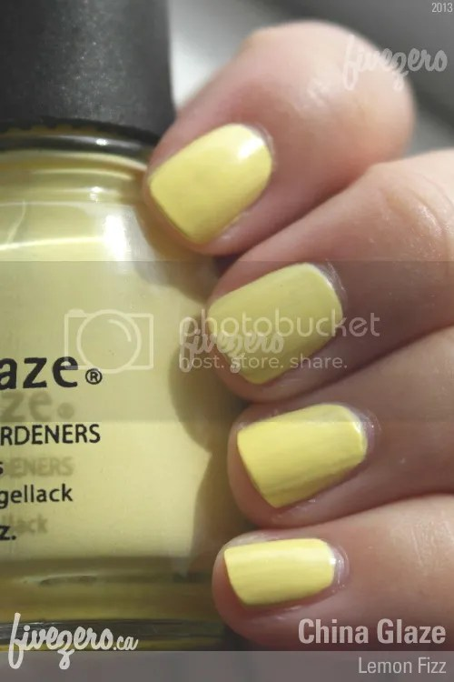China Glaze Nail Lacquer in Lemon Fizz, swatch