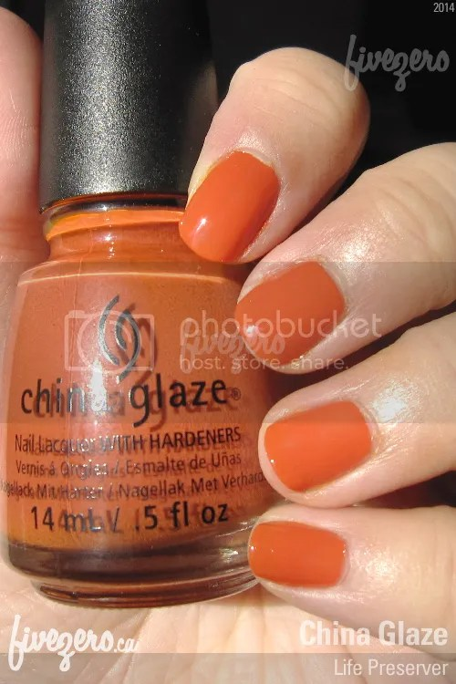 China Glaze Nail Lacquer in Life Preserver, swatch