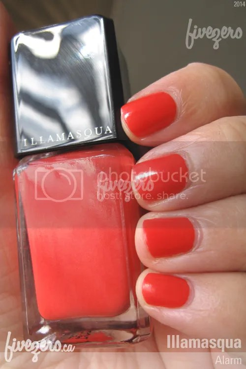 Illamasqua Nail Varnish in Alarm, swatch