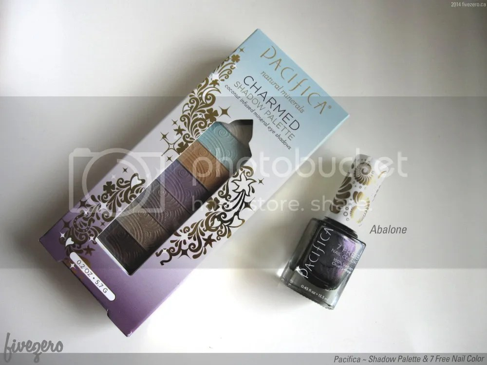 Pacifica Shadow Palette in Charmed and 7 Free Nail Color in Abalone