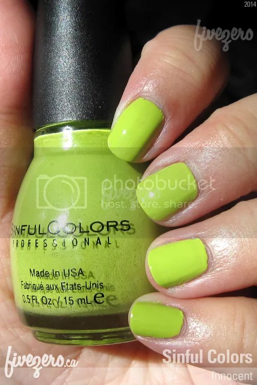 Sinful Colors Nail Polish in Innocent, swatch