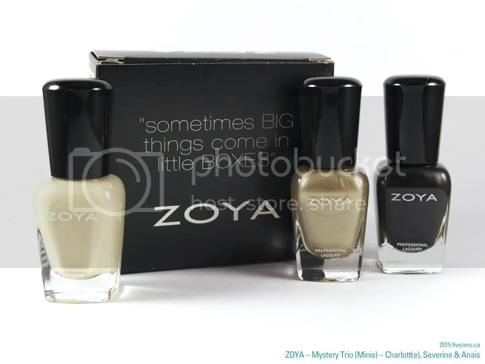 Zoya - Professional Lacquer minis in Charlotte, Severine, Anais (Peter Som AW2014)