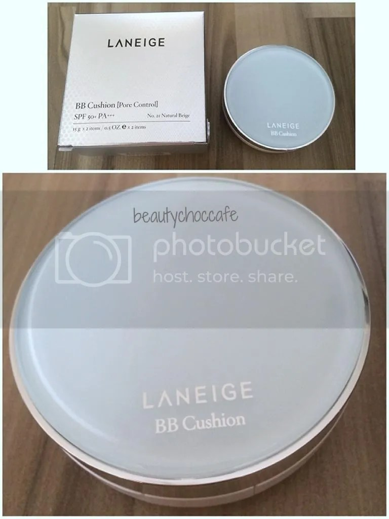 Review Laneige Bb Cushion Pore Control In No 21 Natural Beige Missha Magic Set Spf50 Pa Free Refill Dan Extra Puff Light The Version Has A Skyblue Surface Top Vs White For Whitening And Greyish Silver Anti Aging
